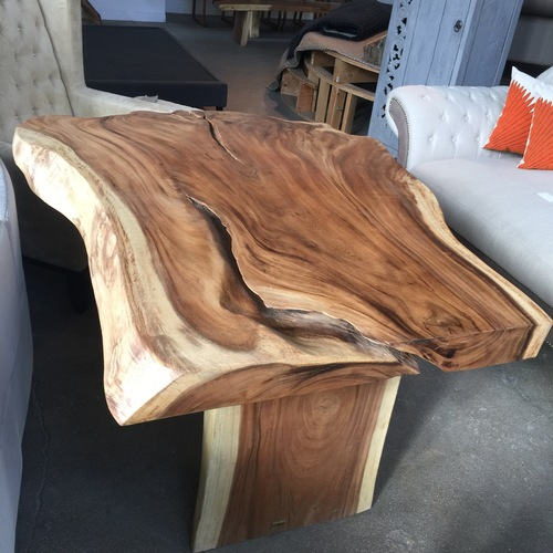 free form, live edge table.