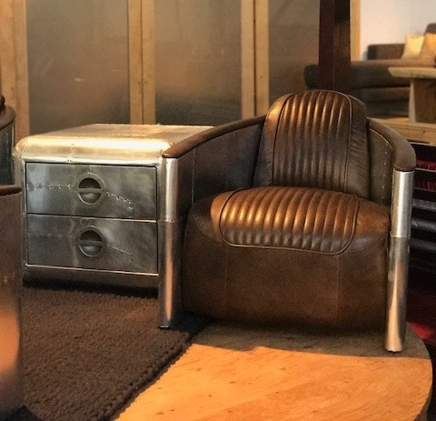 aviator lounge chair and side table