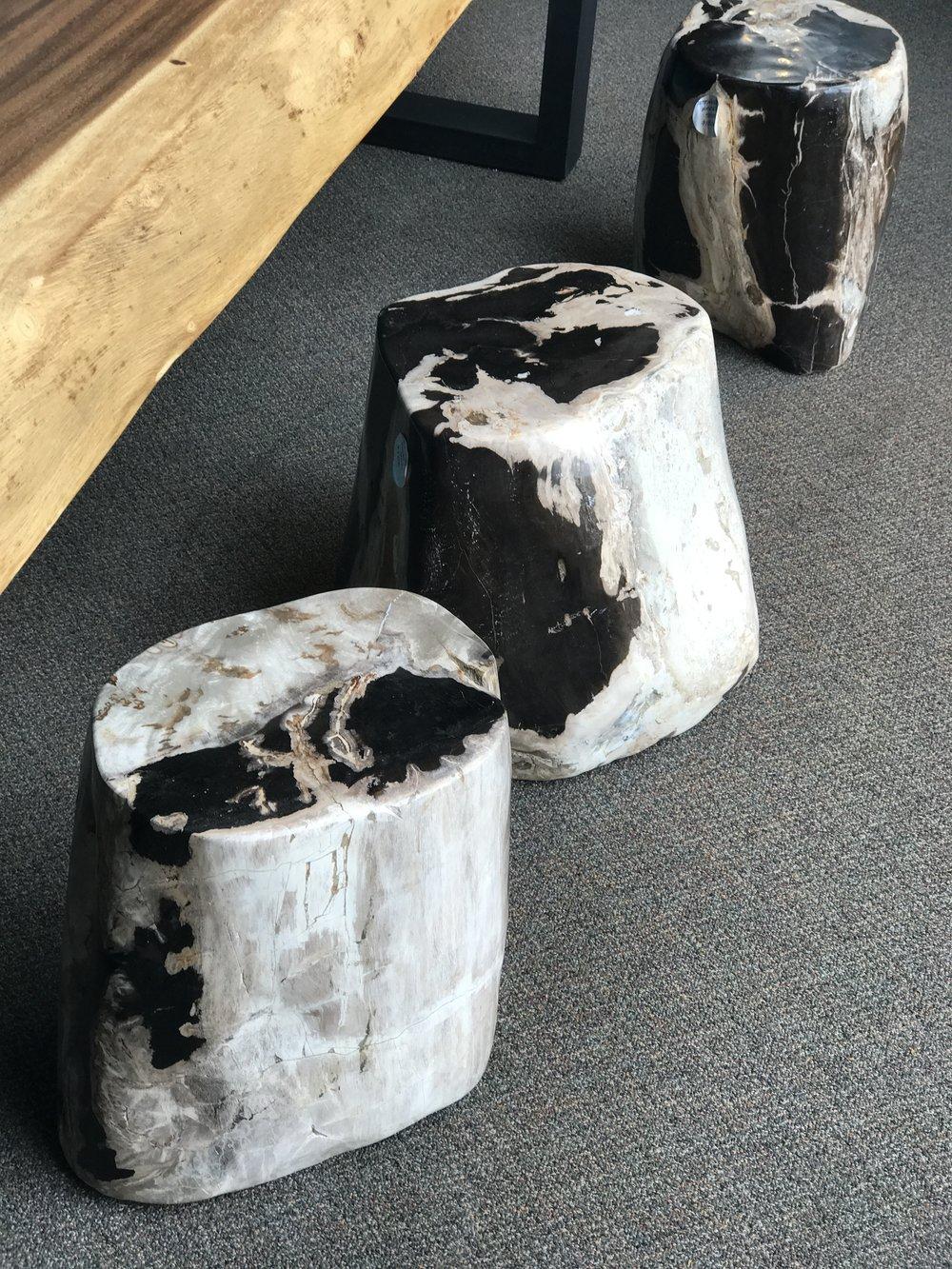petrified wood furniture. petrified wood stool