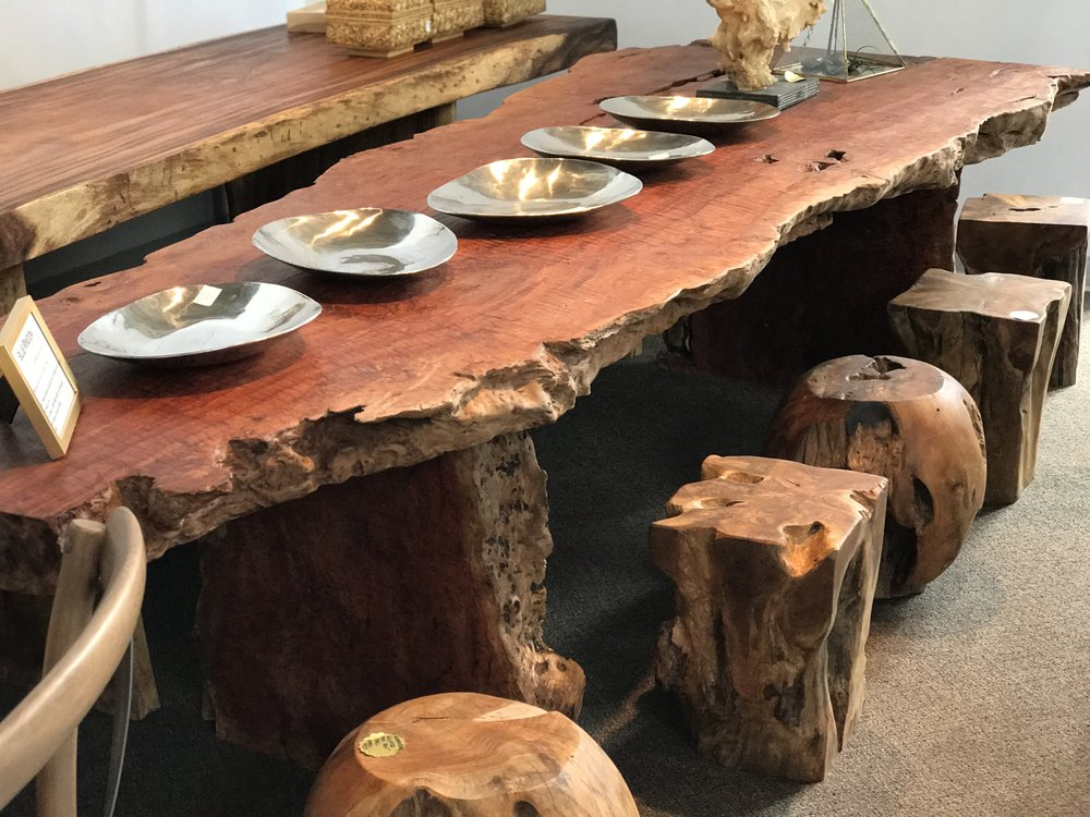 lychee wood furniture. Live edge furniture. Blue Moon furniture. winnipeg modern, contemporary furniture.