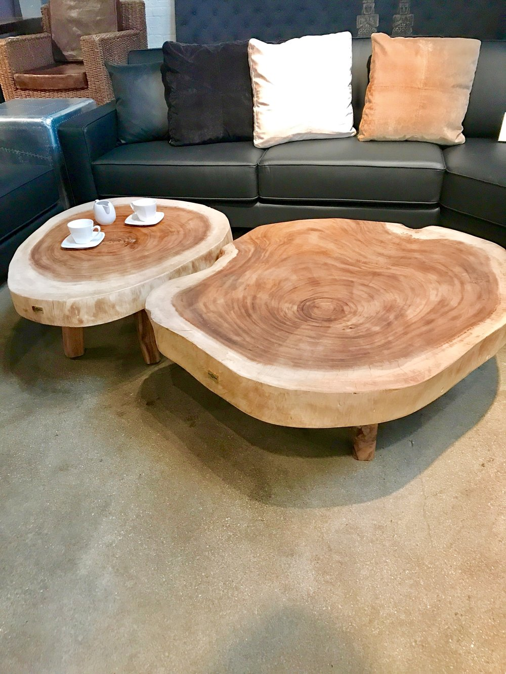 Majestic Single Slab, solid wood coffee table