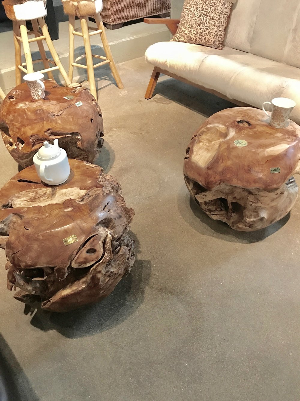 Authentically SCulpted teak root balls. Blue Moon Furniture.jpg