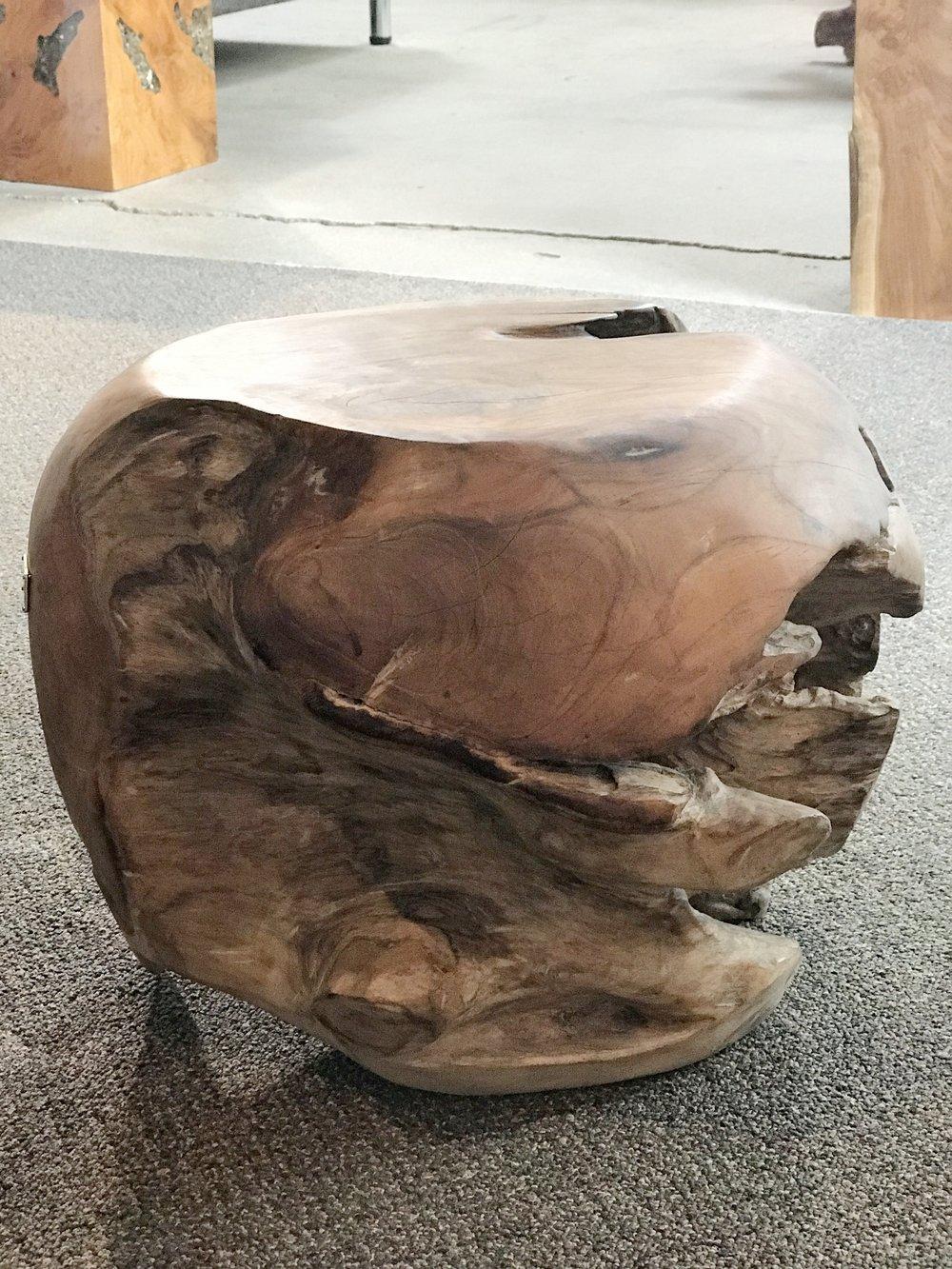 teak root ball side table/stool