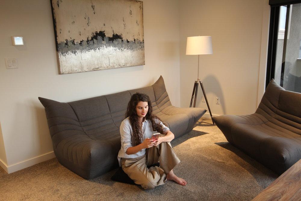 Wolseley safe and chair set, artista show home. Blue Moon Furniture. Luxury furniture winnipeg.JPG