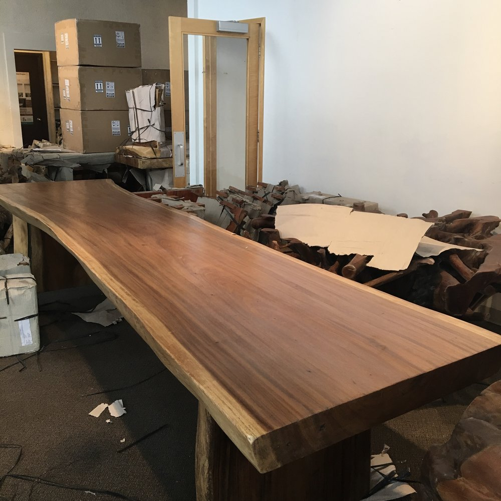 Majestic Live Edge Dining Table. 14 Foot Long.