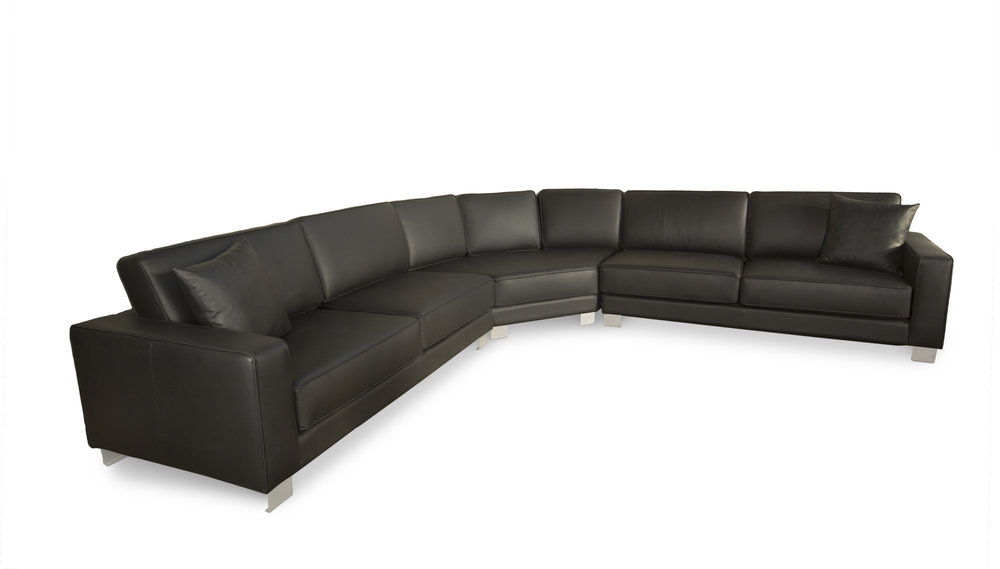 leather sectional Design 10