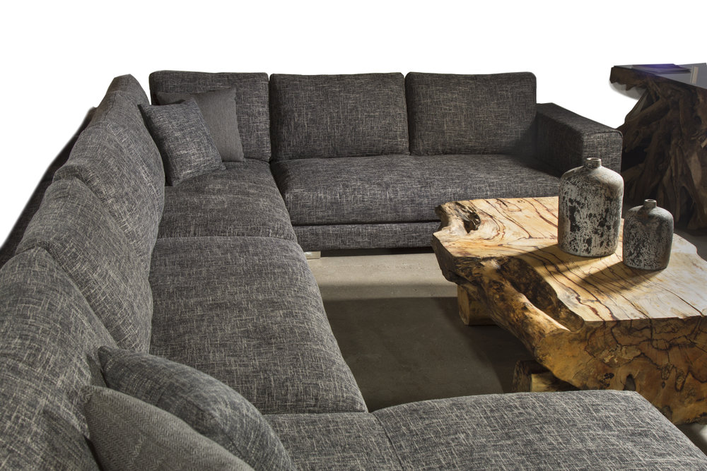 louie tweed sectional