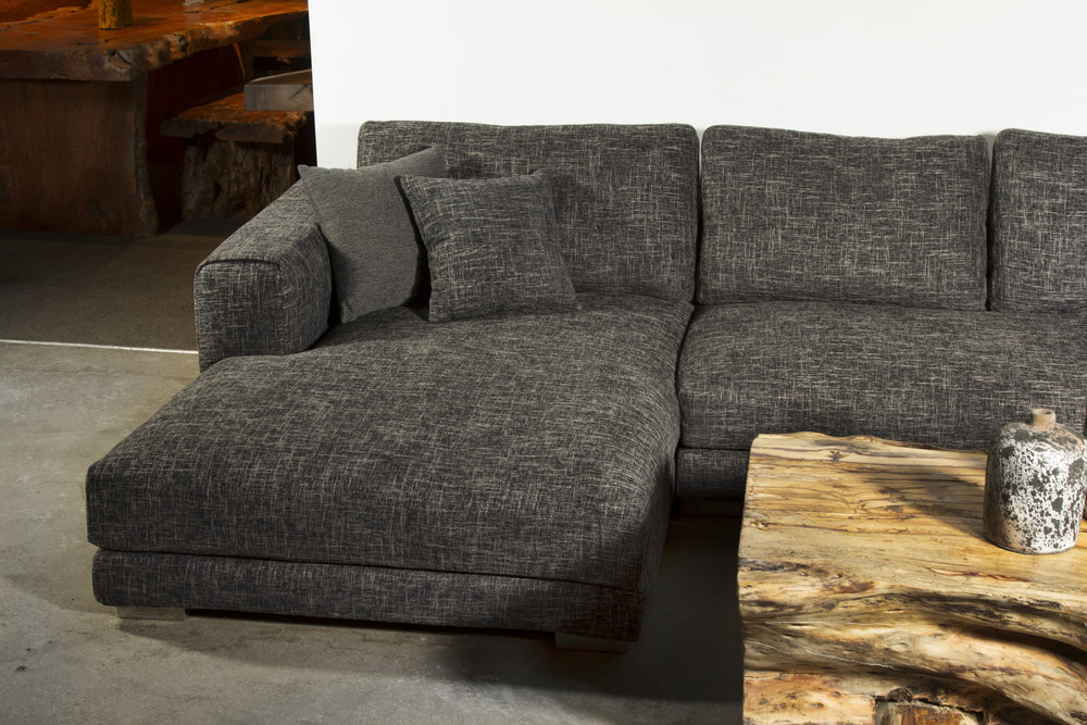 Louie sectional in tweed