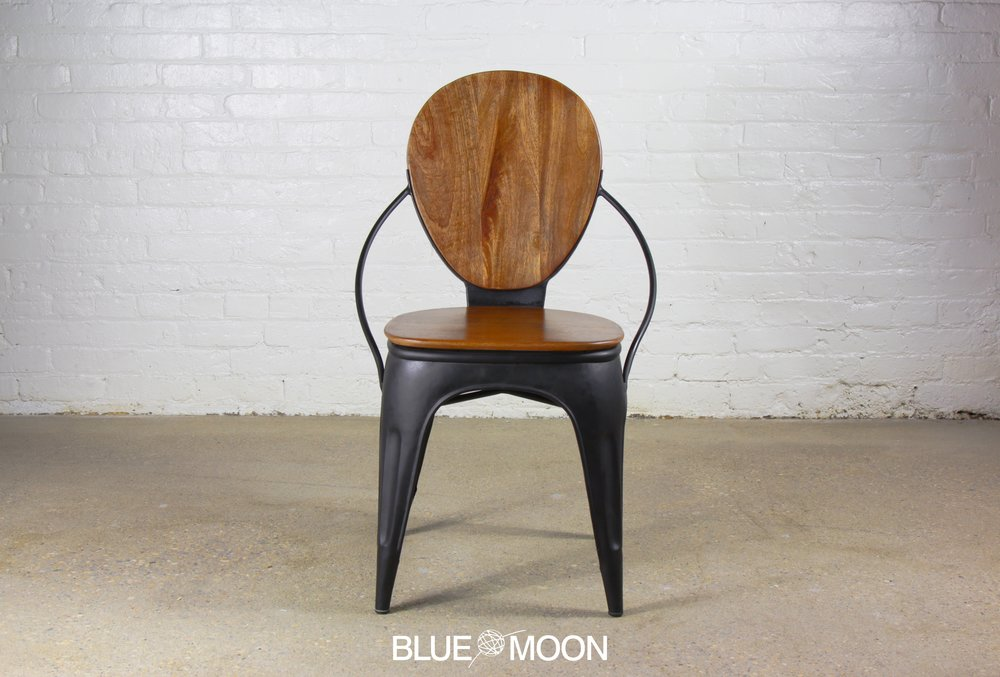 Industrial Wood And Metal Chair