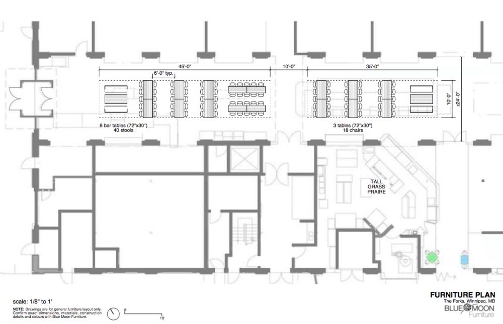 The FORKS Winnipeg Furniture Design & Layout