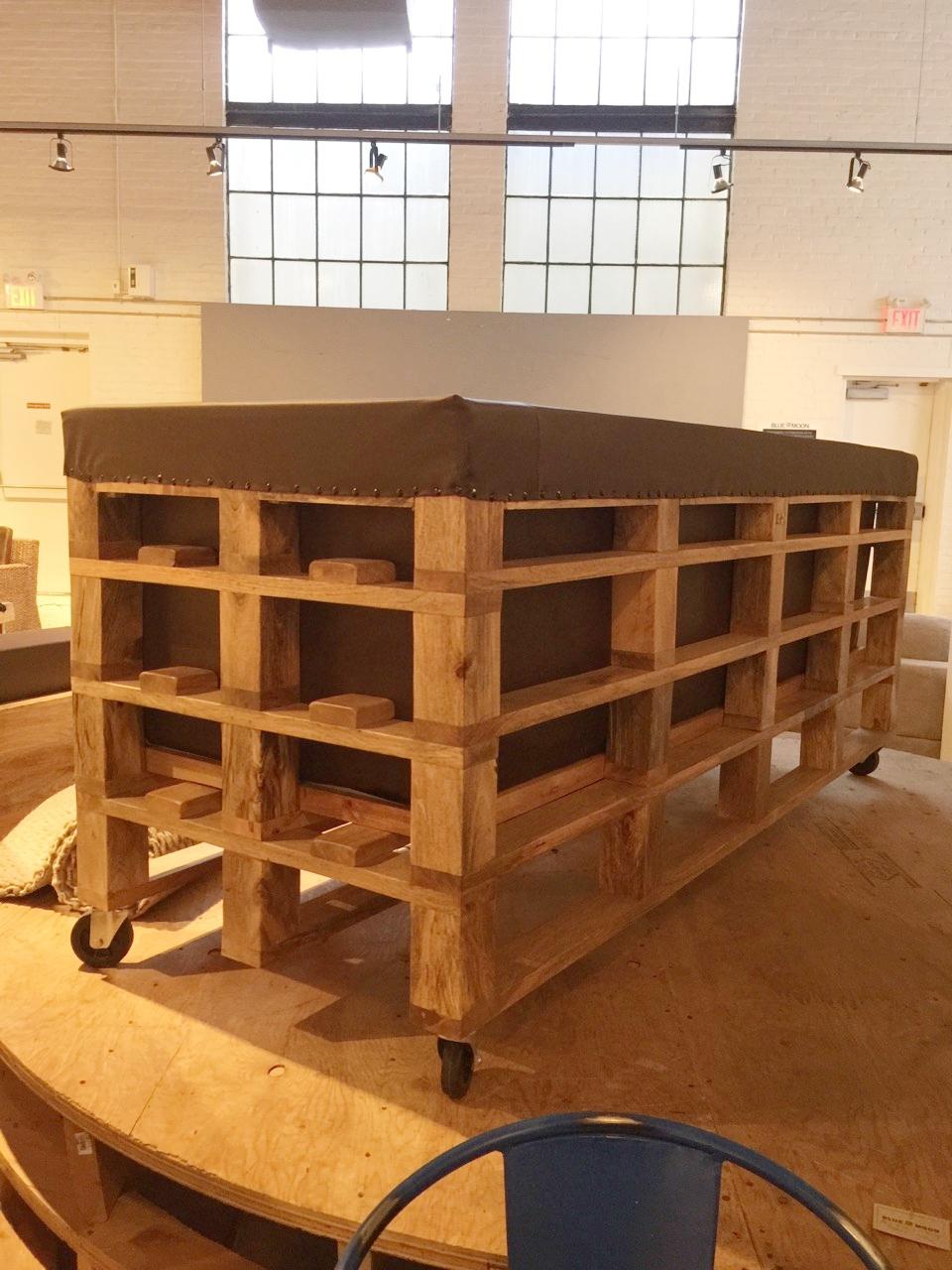 Copy of deconstructed furniture. Crate furniture. industrial furniture