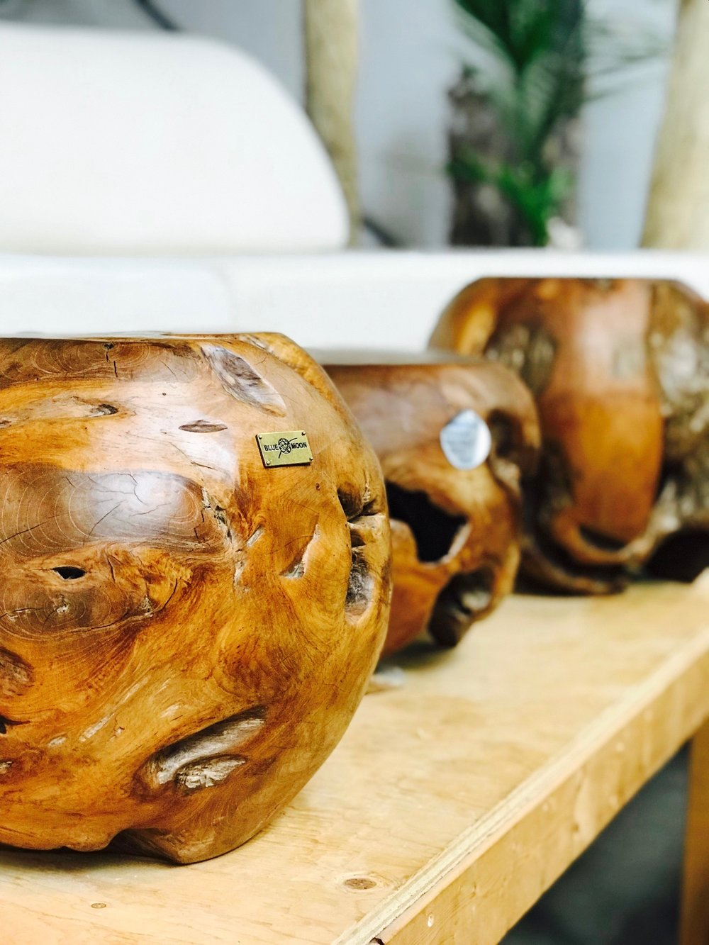 teak root balls. Home decor and furniture. Blue Moon furniture store in winnipeg.jpg