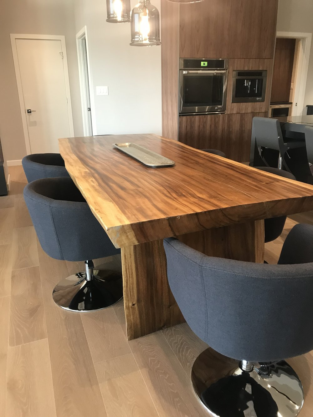 Huntington homes show home furniture. parade of homes. blue moon furniture. majestic live edge dining table..JPG