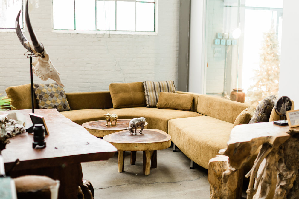 Cocoon 2 sectional. Curvy, modern sectional in bronze velvet.