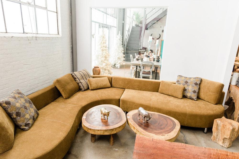 Cocoon 2 sectional. Blue Moon Furniture store in Winnipeg. Modern, luxury designer furniture.