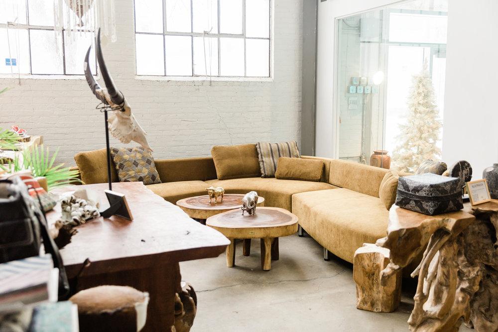 cocoon 2 sectional. Modern, luxurious, designer furniture. Blue Moon Furniture store in Winnipeg