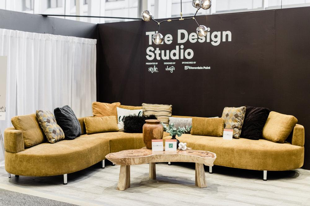 winnipeg renovation show. The Design studio. Blue Moon Furniture. Bronze Cocoon 2 sectional.
