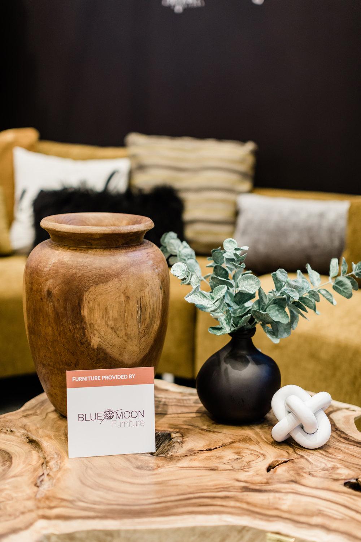 Blue Moon Furniture. Winnipeg renovation show. The design Studio. Teak Root Vase, Coffee table.