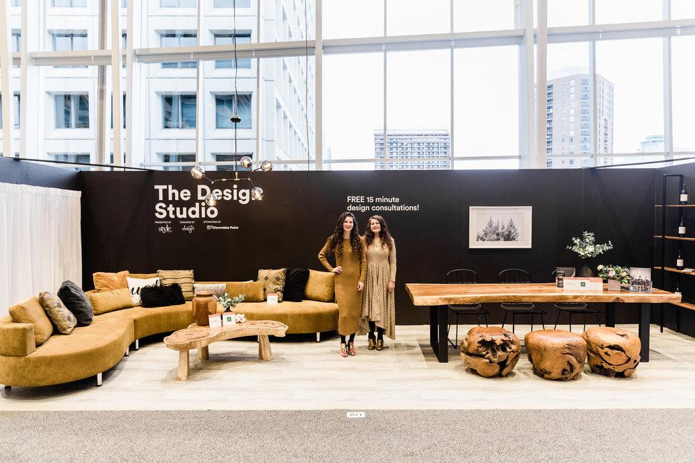 Blue Moon Furniture. Cocoon 2 curvy section in bronze fabric. The design studio, Winnipeg Renovation Show 2019