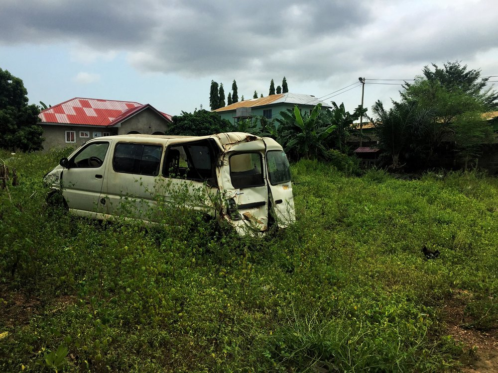 Abandoned trotro has reached it's final destination.