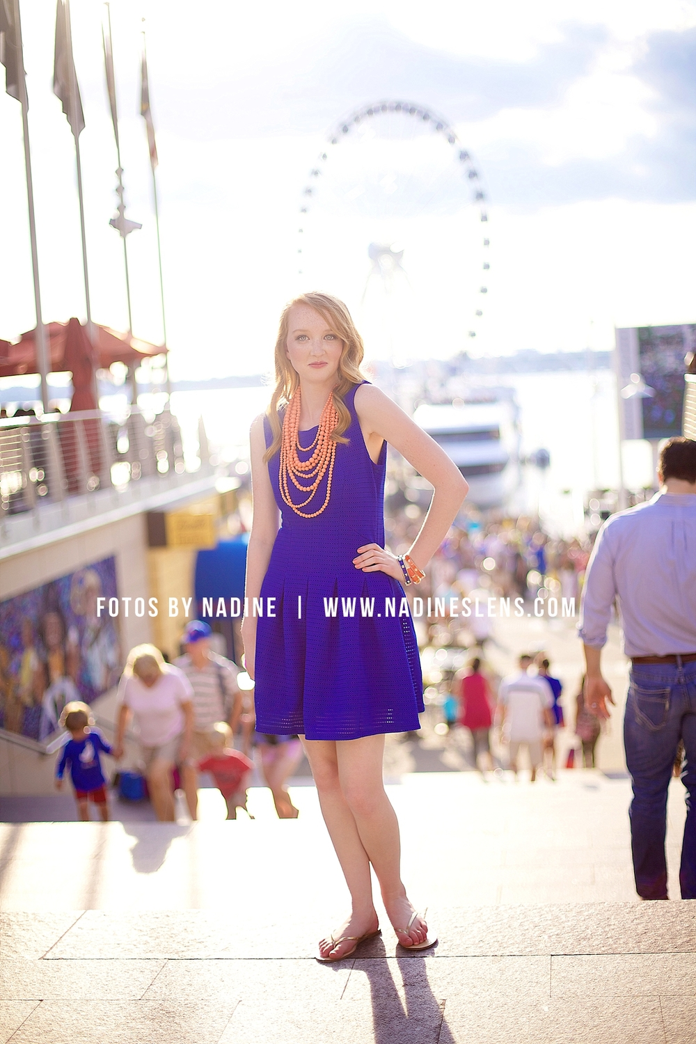 candid senior session at the National Harbor and new Capital Wheel