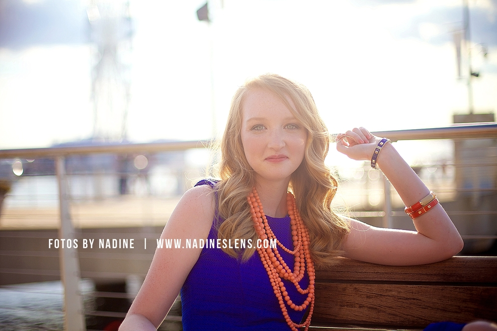 lovely summer evening at the national harbor - senior outdoor session with fotos by nadine