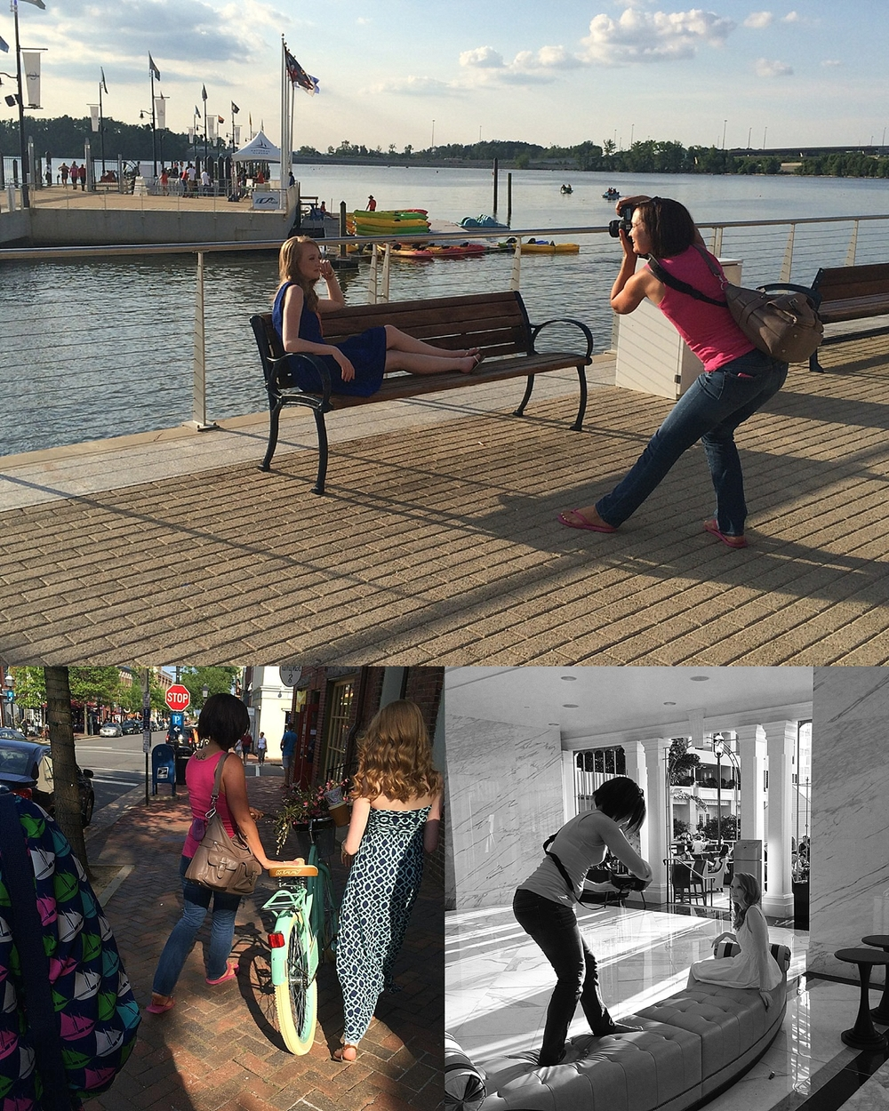 behind the scenes of a senior session at national harbor with fotos by nadine
