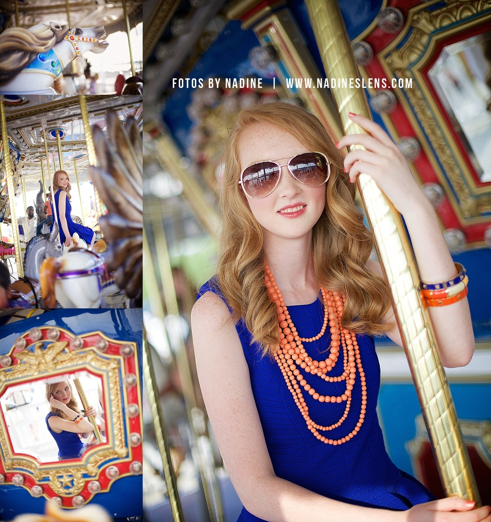 senior session at the carousel at National Harbor, MD by fotos by nadine