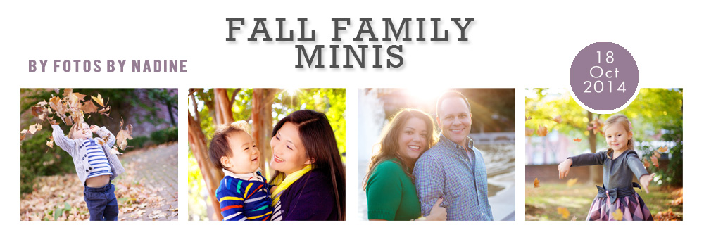 Fall Family Sessions in Washington DC with Fotos by Nadine