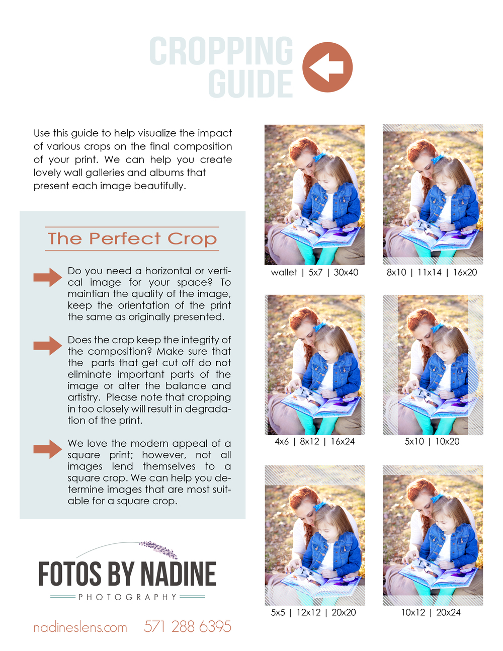 crop ratio explained - shown in comparison to a 5x7 image.