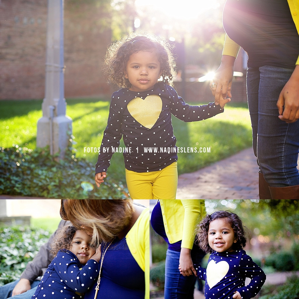little girl in a gorgeous family session in old town alexandria by fotos by nadine