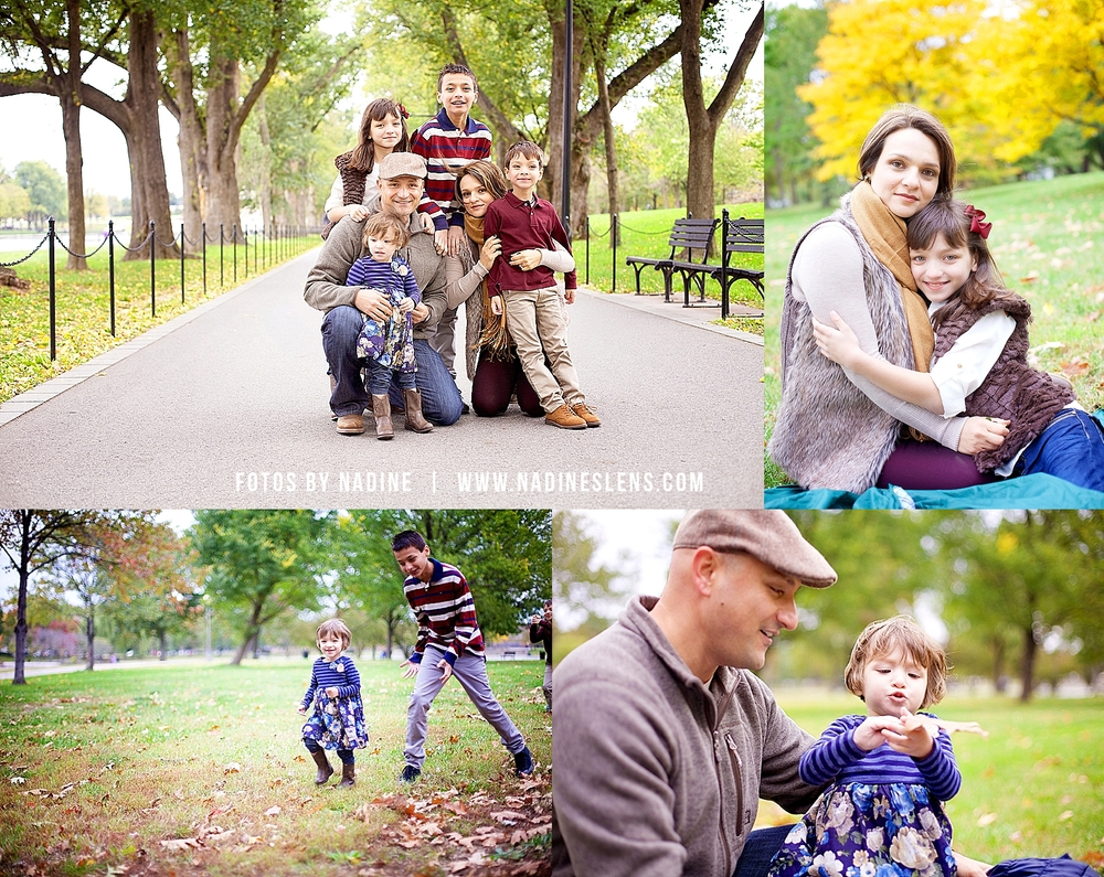 family session in washington dc on a fall day