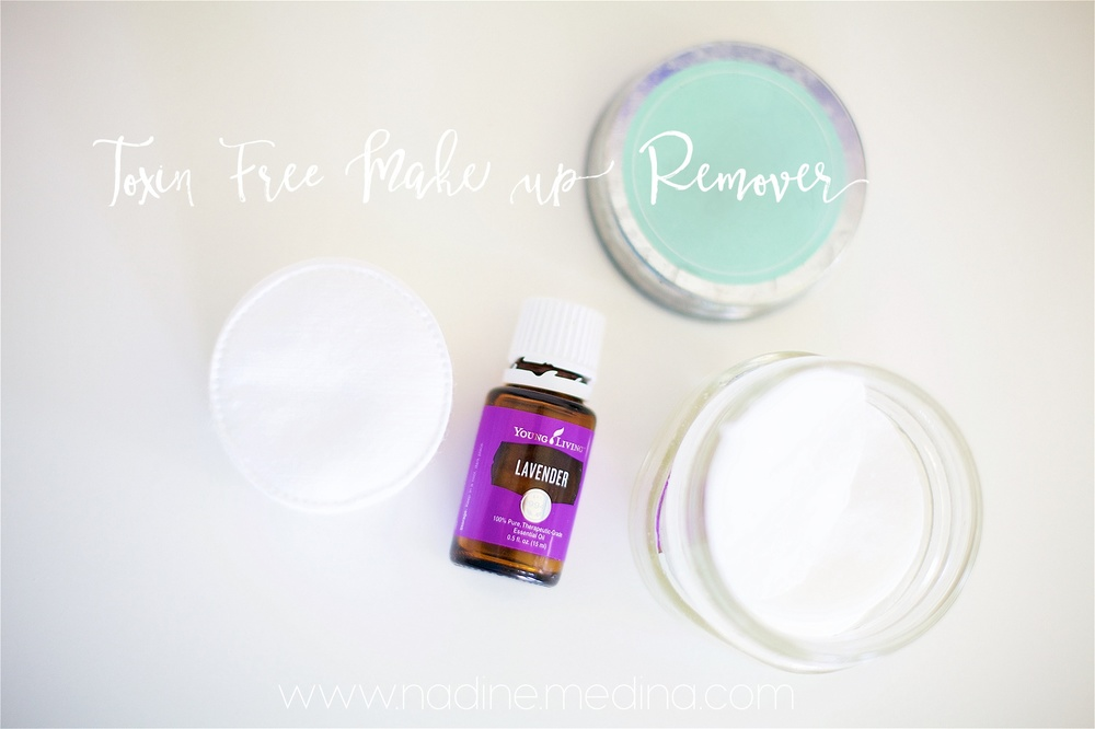 Toxin Free Make up remover with young living essential oils