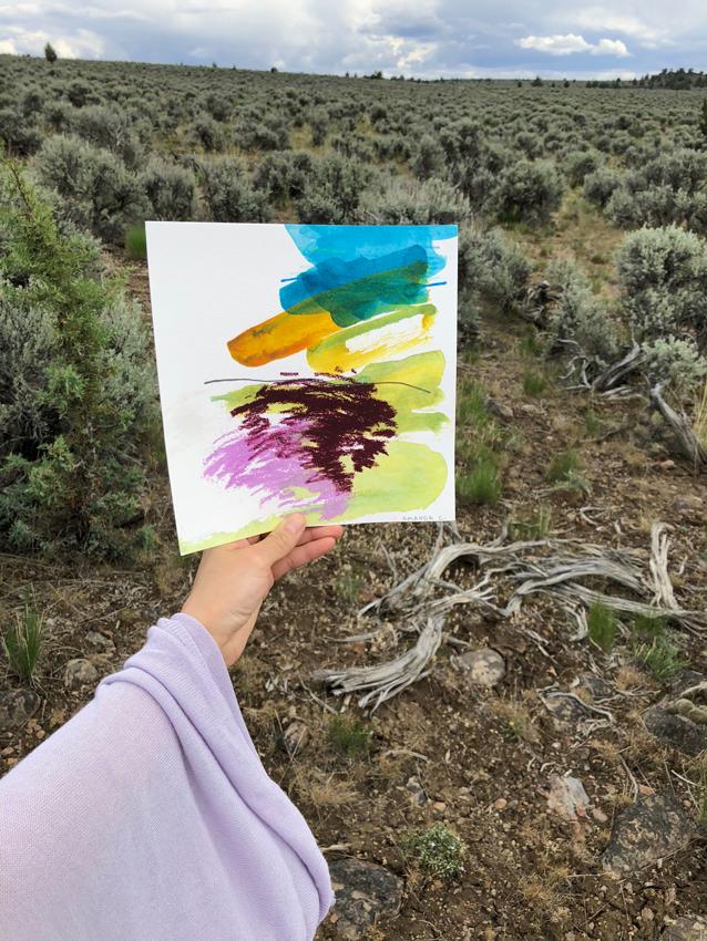 Hikes #4 acrylic, pastel + graphite 2017