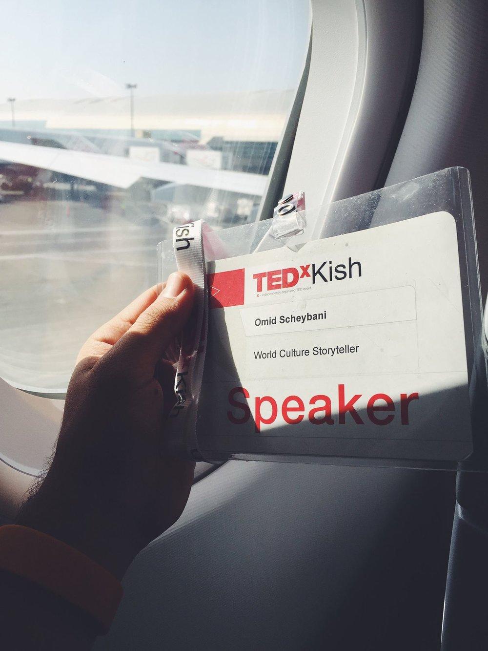Speaker badge at TEDxKish