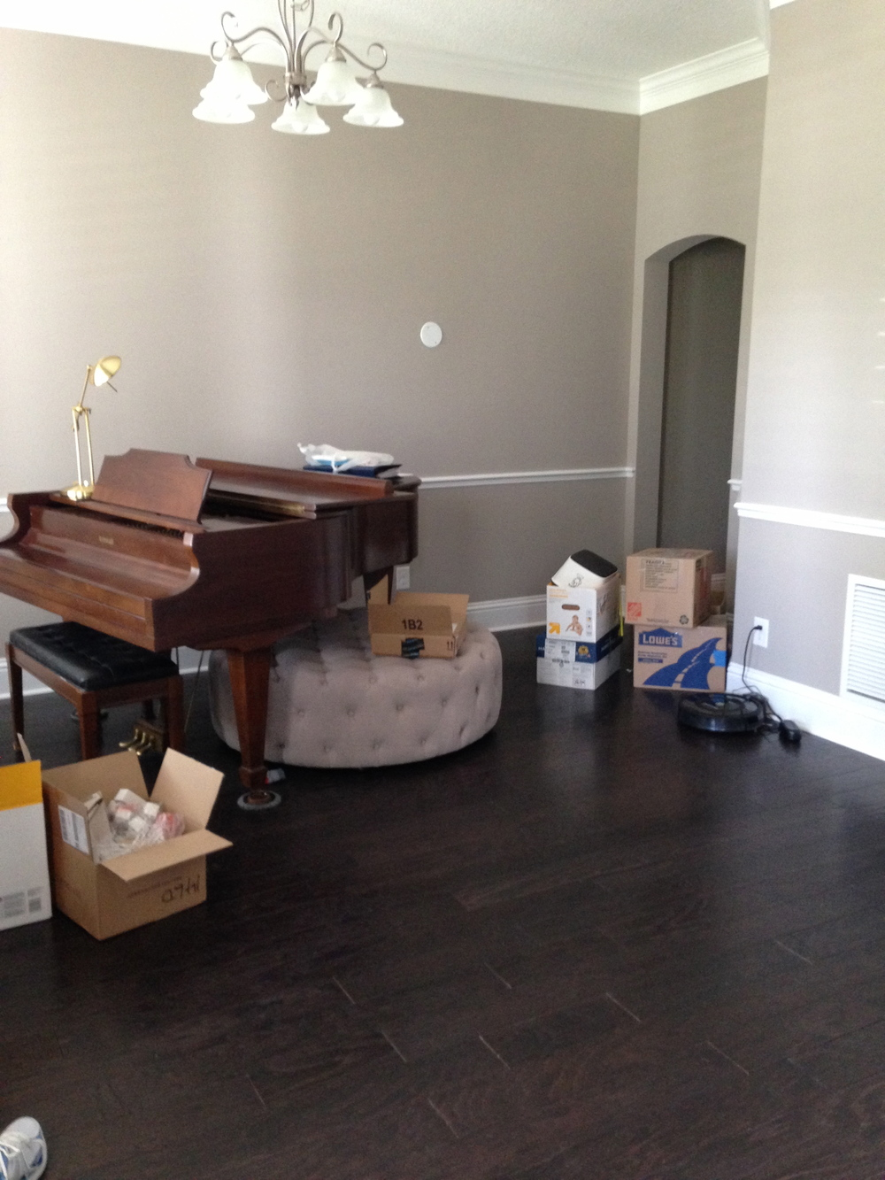 Before Shot of the Music Room