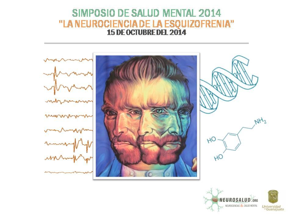 """Poster oficial del evento: """"Simposio de salud mental 2014"""""""