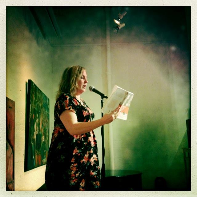 Here I am reading on Tuesday the 18th at the Emerald Tablet in North Beach.