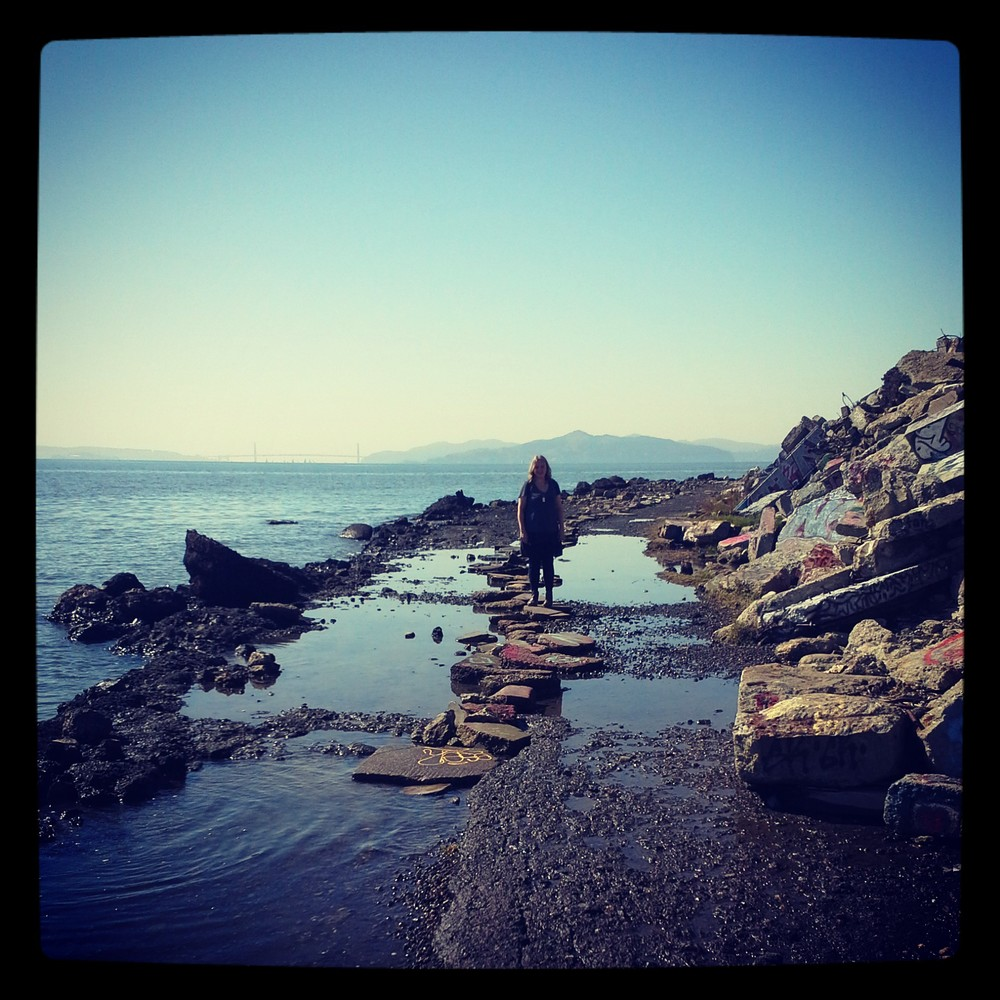 I visited Oakland and the Albany Bulb with my friend Emily.