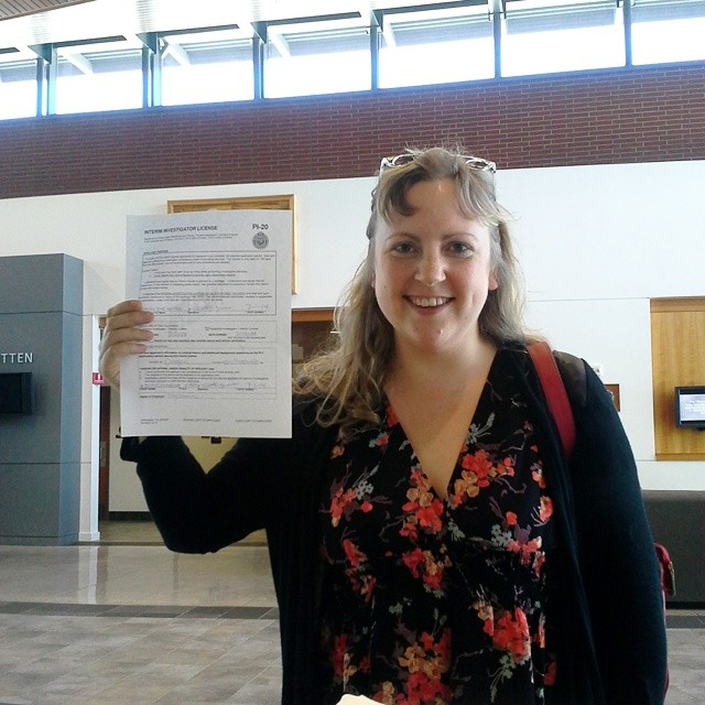 Here I am after I finally passed my PI exam!