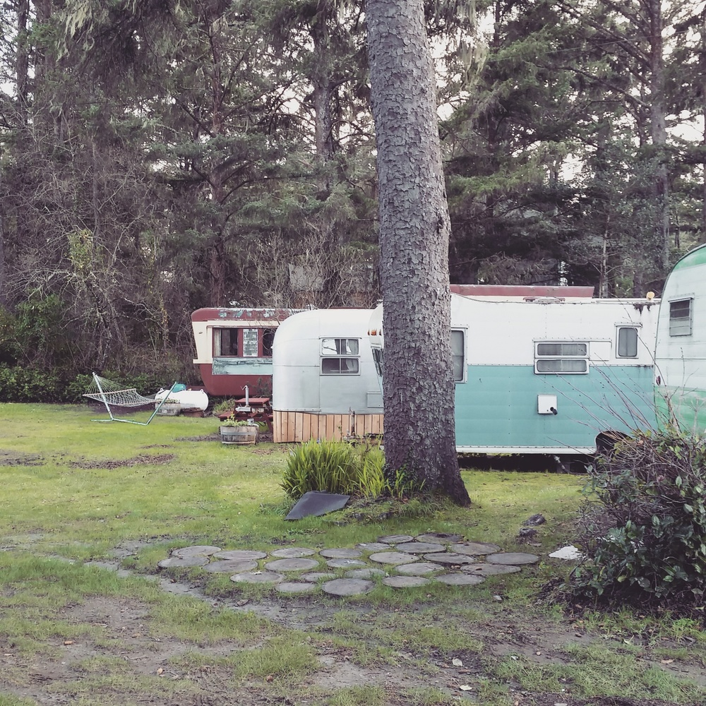 The trailers at the Sou'wester Lodge