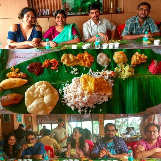 Wednesday, September 14th, is normal, and happens to be on the day of Onam, which is the harvest celebration,festival celebrated mainly in the southern state of Kerala. That's why our first day back to work this week includes  feasting on traditional 'Sadhya' with our team""
