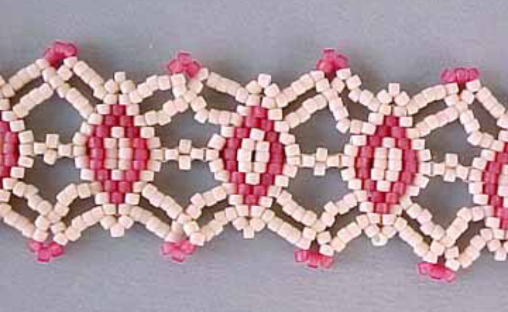 Close up of Beaded Lace