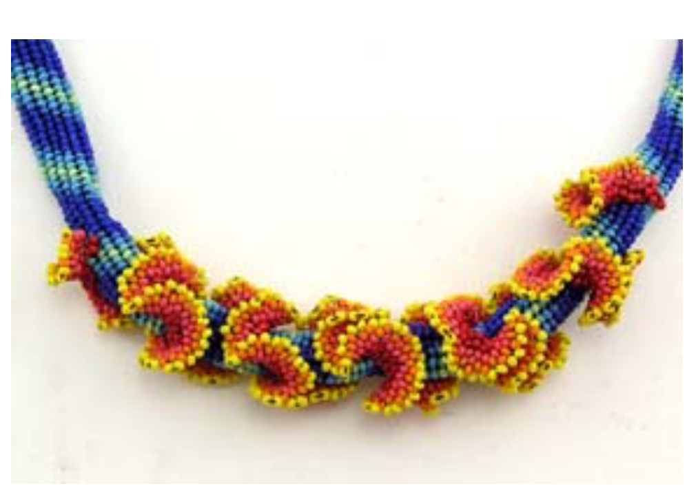 Tropical Ruffle necklace