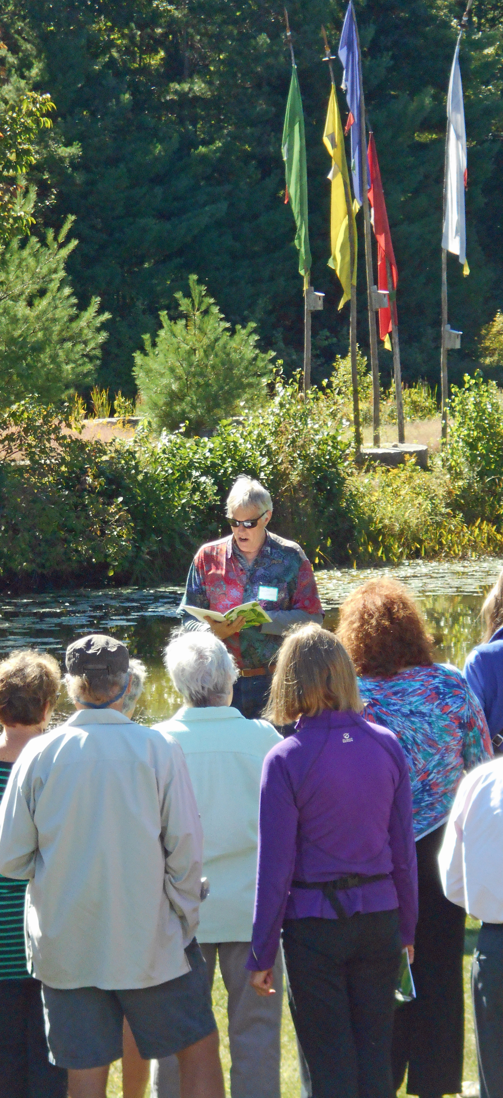 William Lenderking reading his poem at the 2015 Plein Air Poetry Walk.