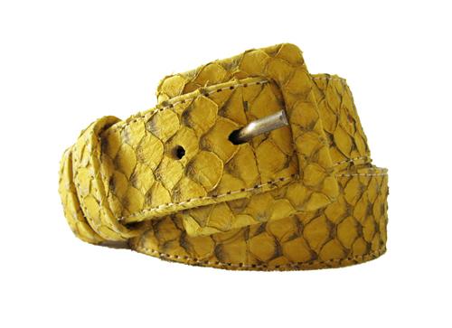 cinto em tilápia amarelo ouro | Heliconia