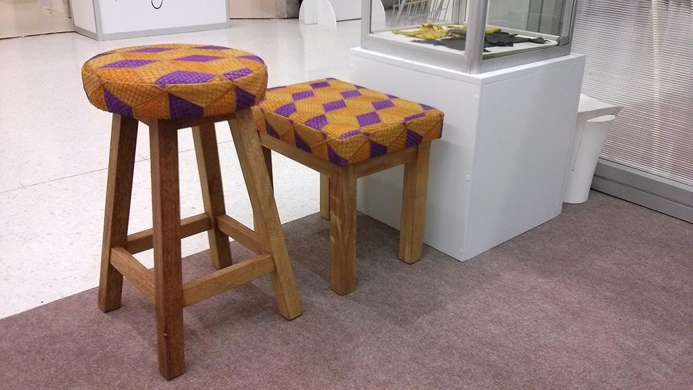 O couro de tilápia também pode estar na decoração, com muito estilo.