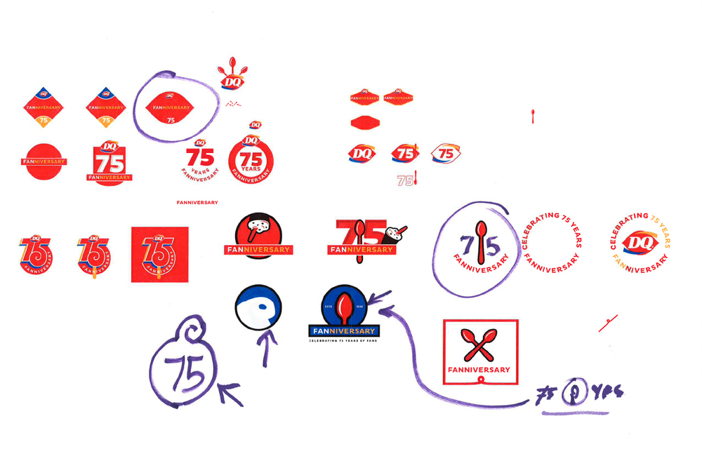 Muito DQ 75th Logo — Lance Flores SA55