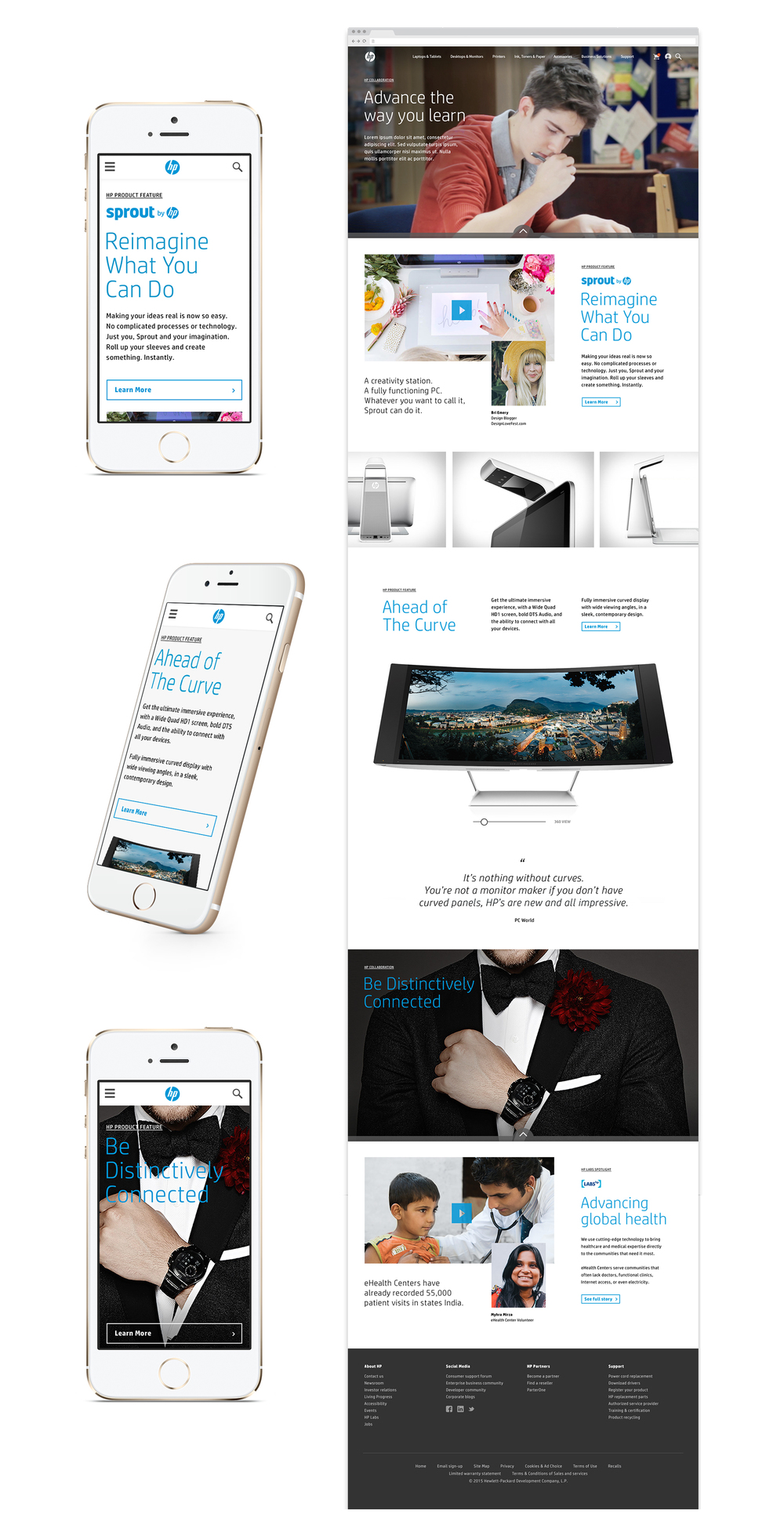 HP responsive site