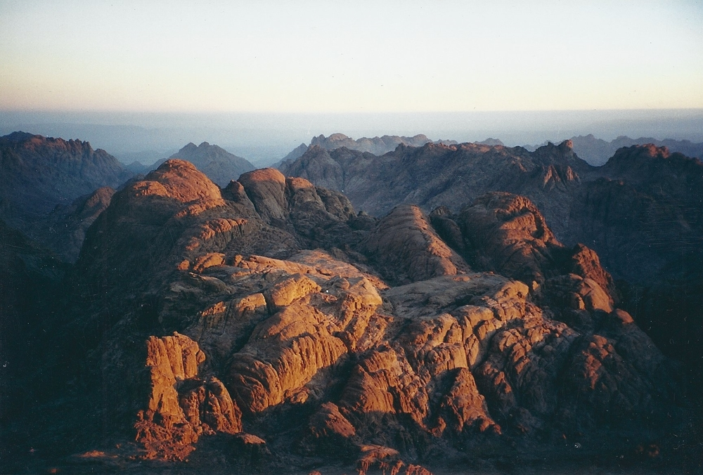 Sunrise on Mount Sinai                                 Egypt   June 2000